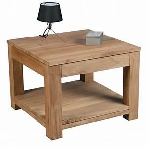 Table Basse Carrée : table basse carr e 1 tiroir born o casita ~ Teatrodelosmanantiales.com Idées de Décoration