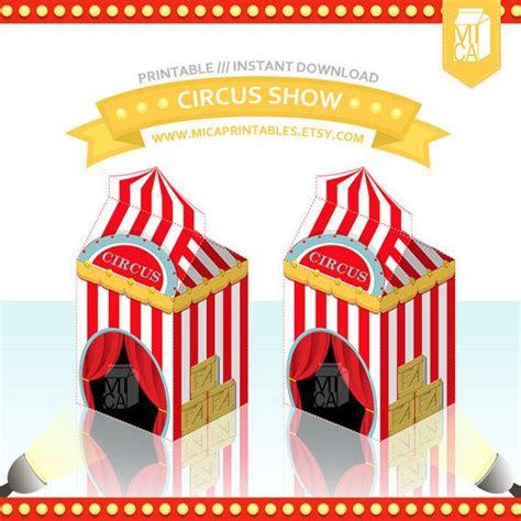 magic circus tent printable party favor treat gift box