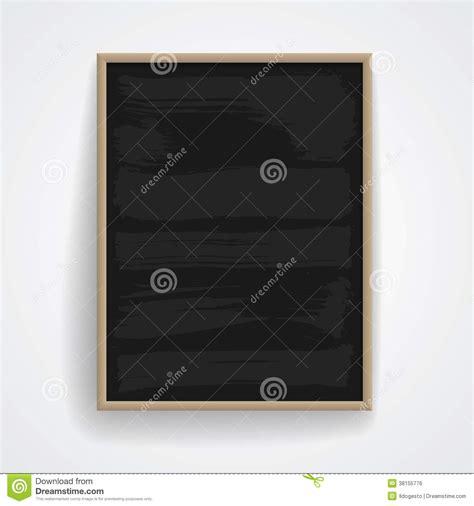 weiße tafel mit a schwarze tafel mit holzrahmen vektor abbildung bild 38155776