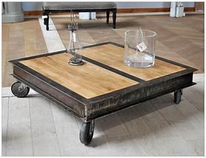 Table Basse Pas Cher : table basse style industriel pas cher mobilier design d coration d 39 int rieur ~ Teatrodelosmanantiales.com Idées de Décoration
