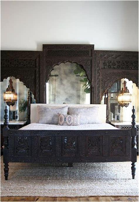 antique mirror headboard moroccan custom bed carved wood headboard antique mirror moroccan pendants ethnic bedroom