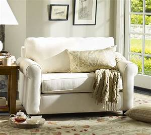 Buchanan roll arm upholstered twin sleeper sofa pottery barn for Sectional sleeper sofa pottery barn