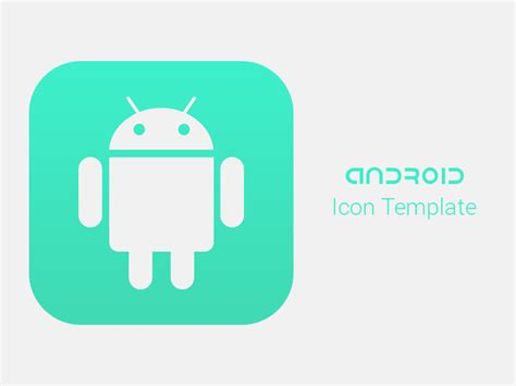 android app icon template android app icon template for modern devices freebie a random package