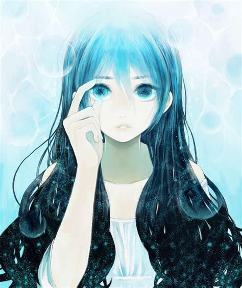 Blue Hair Name by Anime Blue Hair Green Szukaj W