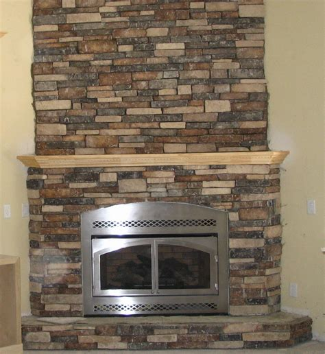 Fake Stone Fireplace Design   Fireplace Designs