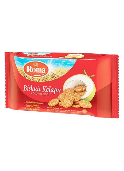 roma biscuit new kelapa pck 300g klikindomaret
