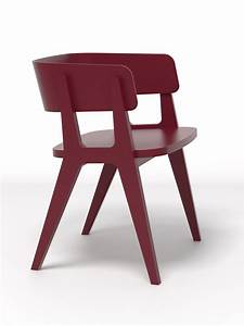 Fauteuil henri bois bordeaux made in design editions for Fauteuil made in design