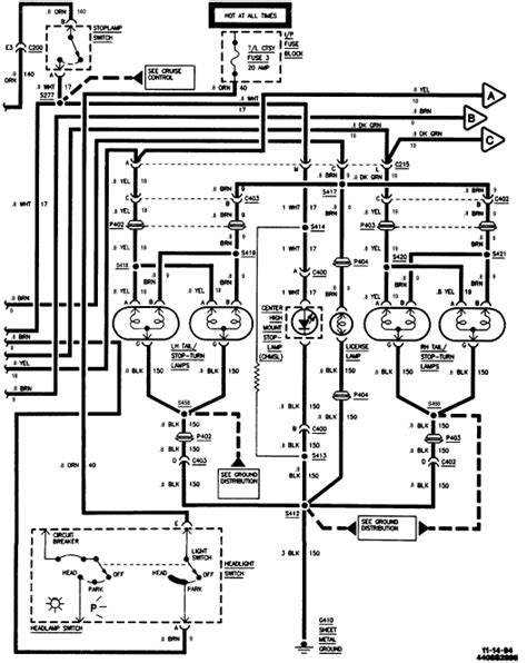 2000 Corvette Turn Signal Wiring Diagram by Location Of High Mounted Stop Light Relay Switch Brake