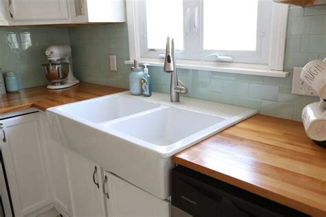 how to install a farmhouse sink in existing cabinets installing an ikea farmhouse sink weekend craft