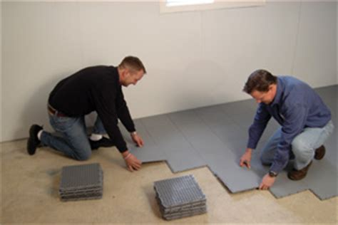 basement flooring system thermal system basement finishing