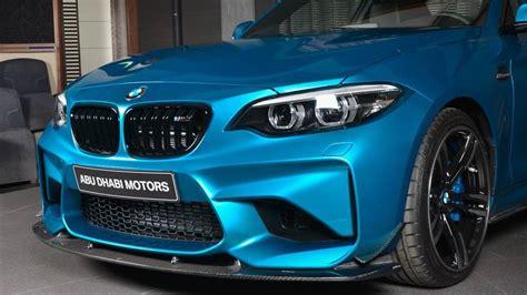 Bmw M2 Long Beach Blue Gets Custom Carbon Fiber Aero Pack