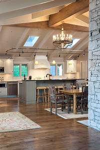 Exterior track lighting kitchen rustic with stone