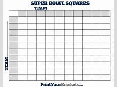 Super Bowl Squares Template The Best Resume