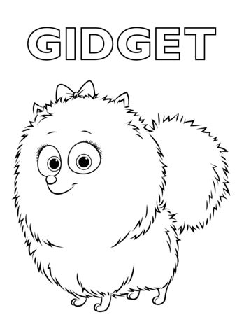 Gidget from the Secret Life of Pets coloring page from The