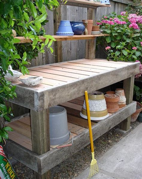 diy potting table with sink one day i 39 d love a potting bench like this one but i would