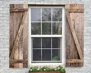give your home an elegant look with wood shutters With barn wood window shutters