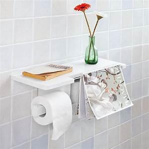 Porte Revue Wc : sobuy d rouleur papier toilette distributeur wc porte papier mural frg175 w fr ebay ~ Teatrodelosmanantiales.com Idées de Décoration