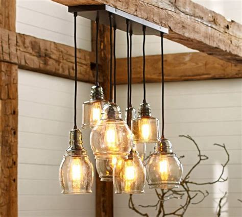 Pottery Barn Table Ls Glass by Paxton Glass 8 Light Pendant Pottery Barn For