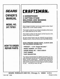 Craftsman  Owner U2019s Manual  Model No