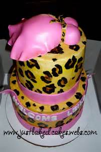 Cheetah Print Baby Shower Cake