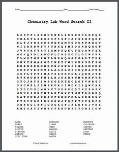 Chemistry Lab Terms Word Search Puzzles