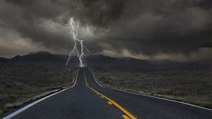 Clouds, Desert, Hill, Road, Lightning, Valley, Wallpapers, Hd, Desktop, And, Mobile, Backgrounds