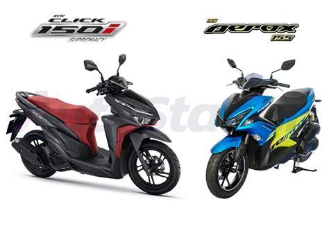 Pcx 2018 Vs Aerox by หม ดต อหม ด Honda Click 150i ปะทะ Yamaha Aerox 155 ศ กช ง
