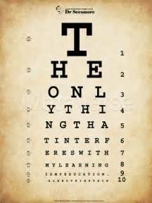 Eye Chart Art