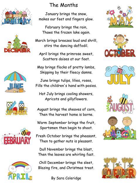 the months poem by sara coleridge ppt mash ie