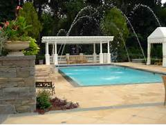 Swimming Pool Ideas With Deck Inground Swimming Pool Design Ideas And Installation With Deck