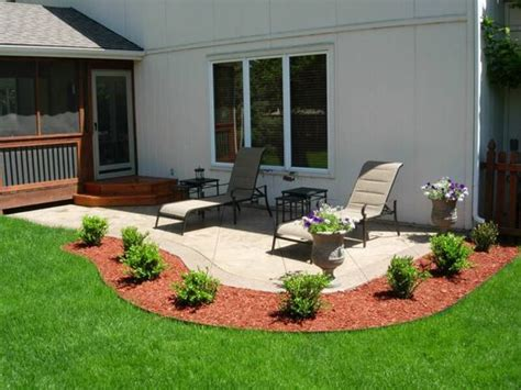 landscape around patio concrete patios patio and outdoor landscaping on pinterest