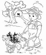 Coloring Pages American Farm Doll Boy Dog Boys Printables Take Adults Colouring Books Sheets Adult Cartoon Drawing Ride Drawings Library sketch template
