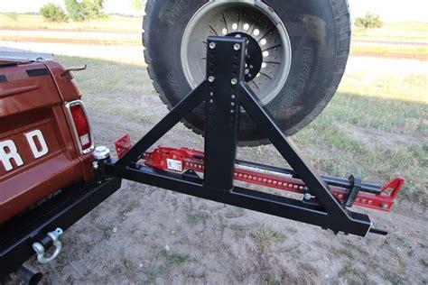 rock hard  patriot series rear bumper  tire carrier  ford bronco   rh
