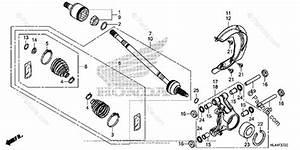 Honda Side By Side 2016 Oem Parts Diagram For Rear Knuckle