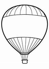 Balloon Air Coloring Drawing Pages Clipart Template Printable Ballon Clip Balloons Sheets Basket Print Templates Colouring Line Pencil Adult Open sketch template
