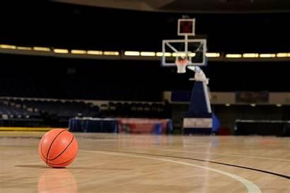 Basketball Court Computer Backgrounds Flooring Hoop Indoor