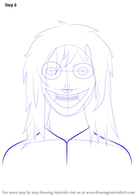 learn   draw jeff  killer characters step