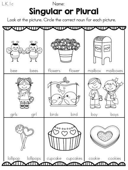 s day kindergarten language arts worksheets