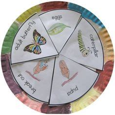 butterfly life cycle paper plate toy craft free fjextange template pinterest the world s catalog of ideas