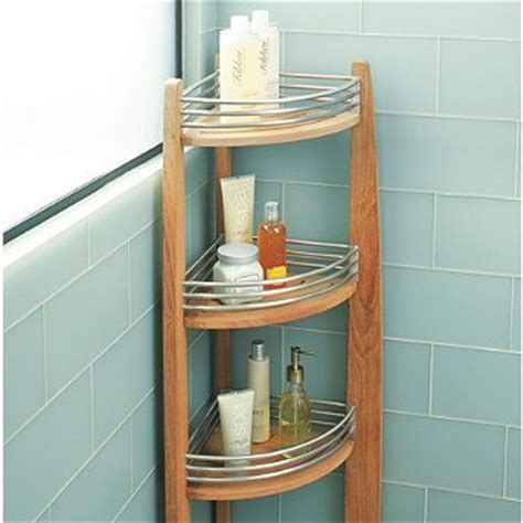 Teak Bathroom Corner Shelves by Cheap Teak Corner Shelf Caddy Frontgate Teak Shower Caddy