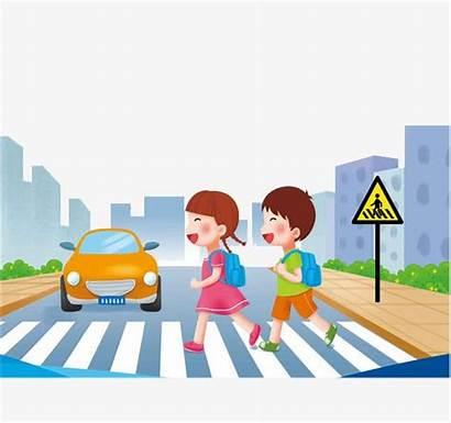 Across Street Queue Clipart Crossing Boys Imgbin