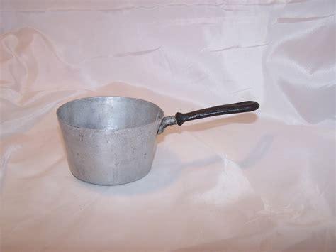 Toy Cook Pot, Aluminum, Vintage Childs Toy
