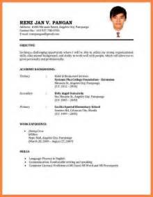 resume format for a application 7 best cv for application bussines 2017