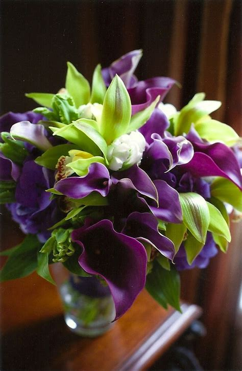 green with purple flower green and purple wedding flower bouquet wedding love in shades of purple chic pinterest