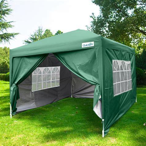 quictent    ez set pop  canopy tent instant gazebo party tent   sidewalls roller
