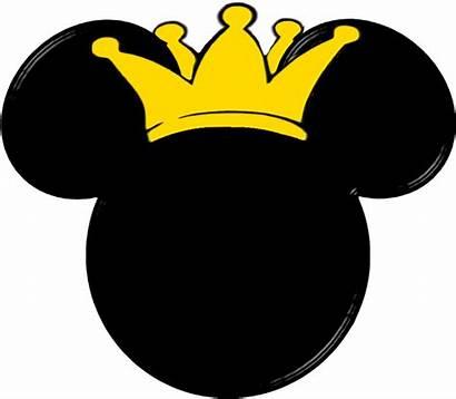 Mickey Minnie Cabeza Mouse Precious Silueta Corona