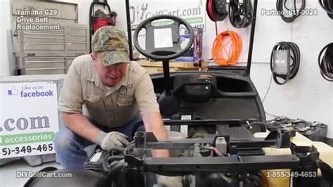 yamaha drive belt   install   golf cart youtube