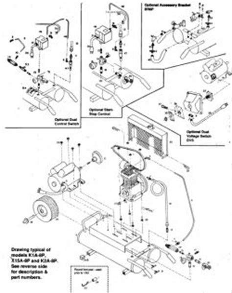 Emglo K1A-8P Air Compressor Parts