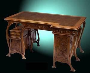 Art Nouveau Mobilier : bureau art nouveau france1900 design art nouveau ~ Melissatoandfro.com Idées de Décoration