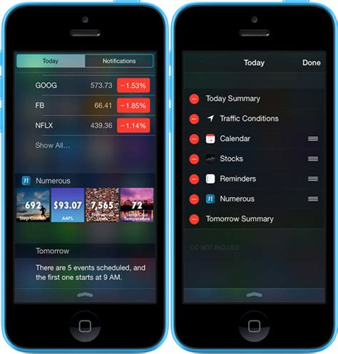 widgets for iphone ios news iphone widgets for notification center on